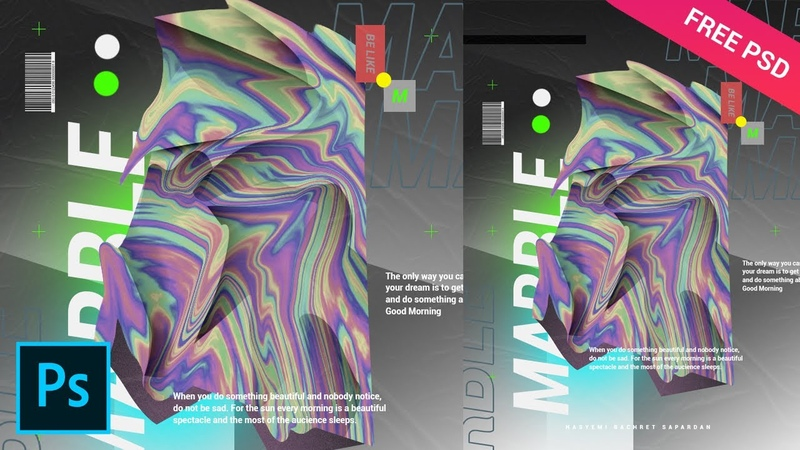 Marble Holographic Abstract ala Magdiel Lopez Tutorial Photoshop CC 2020