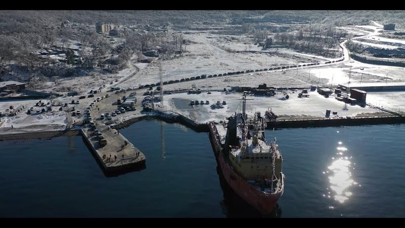Эксклюзив с о Русский Ледяной дождь во Владивостоке Мост закрыт режим ЧС Очередь на паром