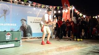 Juggler comedian Dan the hat show at Sharjah Fringe Festival | Best juggler