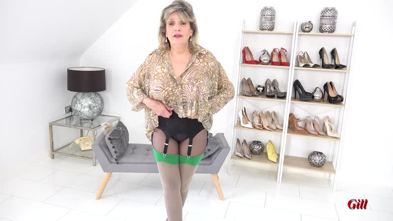 Gill Ellis Young Layered Nylon Try On Haul Tights Pantyhose and Nylons Stoc