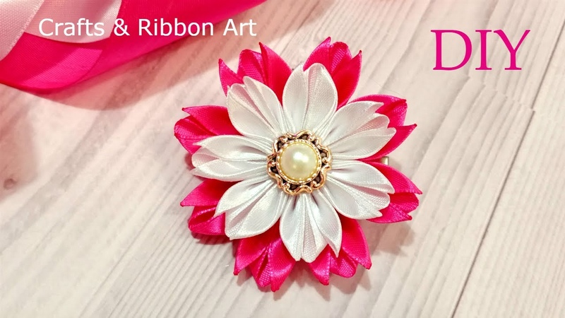 DIY Beautiful Ribbon Craft Ideas | Easy Flower Making | Amazing Kanzashi Flower | Flores de Fita