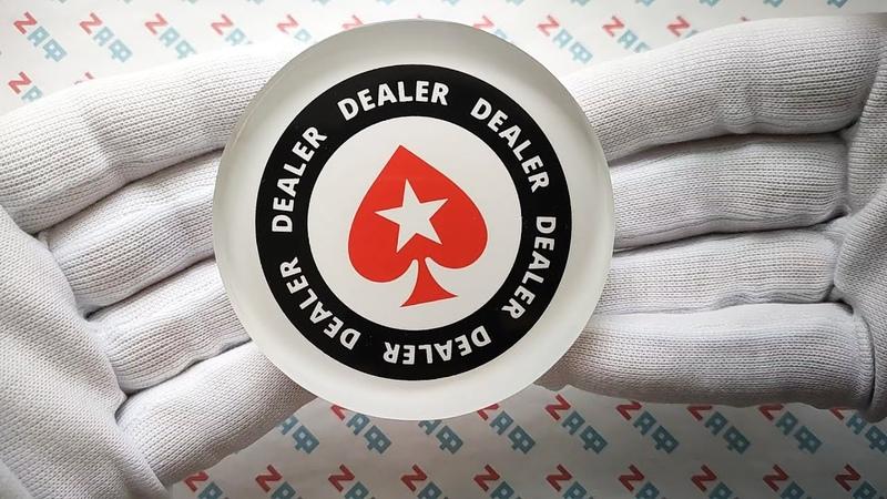 Кнопка дилера POKERSTARS, 80×20 мм / PokerStars Dealer Button, 80×20 mm