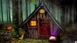 HALLOWEEN AMBIENCE - Witch's Forest | Spooky ASMR Sounds: Bubbling Cauldron, Forest Sounds, Creaking