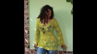 Bluza crosetata de vara - Prima parte