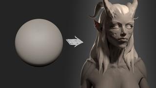Zbrush Head Sculpt 32 - Demon Princess