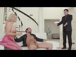 ♉ shewillcheat slutty milf christie stevens fucks her cuckold husband's boss