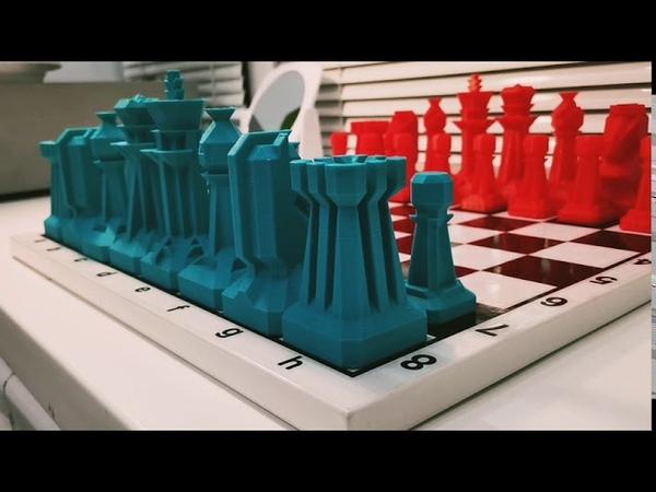 Что можно напечатать на 3д принтере Нереально крутые шахматы на 3d принтере