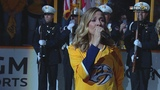 Sheryl Crow performs the national anthem before Game 7 in Nashville