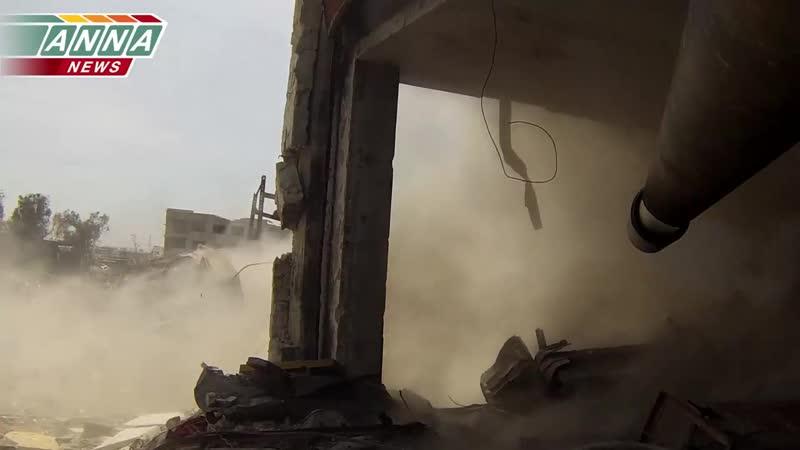 «Сирия» «Огневое подавление» - позиций боевиков «Джобар» (Часть 1)