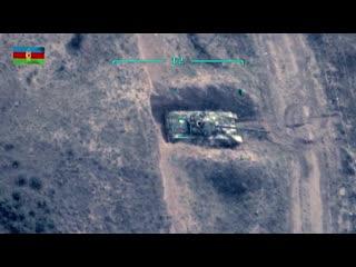 Минобороны Азербайджана показало кадры уничтожения армянских танков