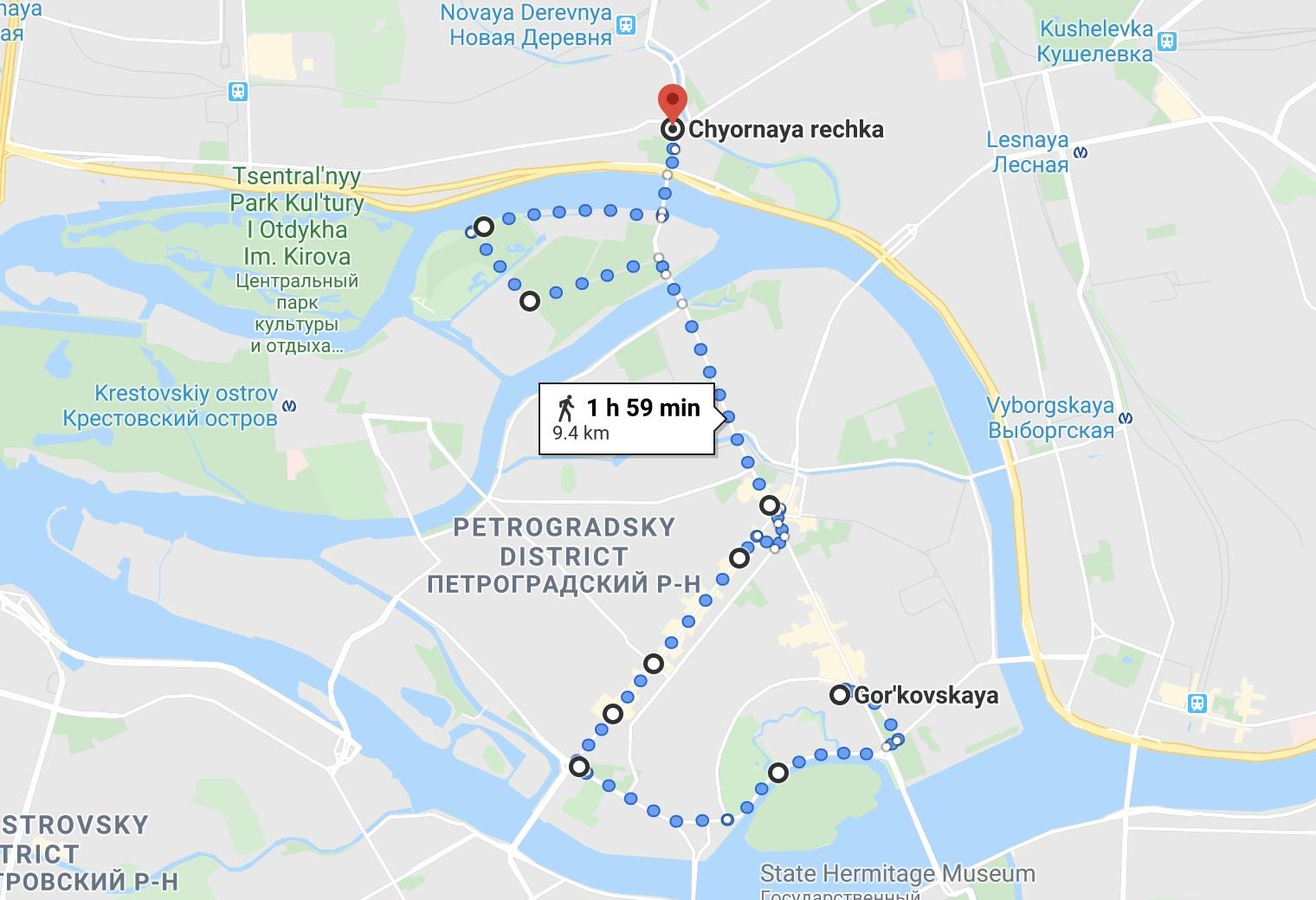 Маршрут по Петроградке, Санкт-Петербург 2020