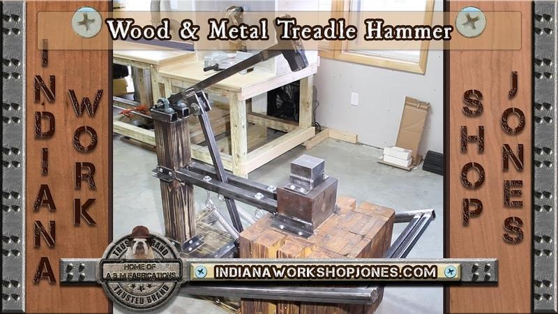 Wood Metal Treadle Hammer for Forging Blacksmithing