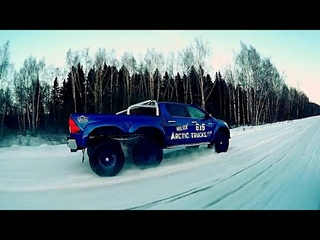 toyota HILUX 6x6 snow  DRIVING & DRIFTING hard DRIVING new compilaion