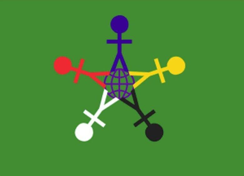 У праздника есть свой флаг: на зеленом фоне вокруг знака Земли размещены стилизованные фигурки — красная, желтая, синяя, белая и черная. Считается, что человеческие фигурки символизируют разнообразие и терпимость, а знак Земли в центре — символ общего дома.