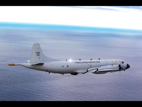 O LOCKHEED P-3AM DA FAB NO RESGATE DO HERCULES CHILENO-VÍDEO 874