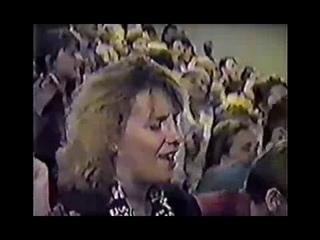"""Архивные съемки одного из собраний секты """"Пятидесятников"""" в момент исполнения Песни о Елде"""