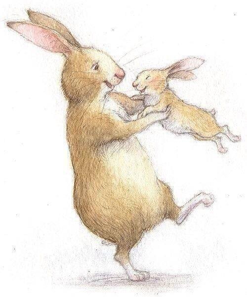 картинка маленький зайчонок улыбнулся маме является универсальным