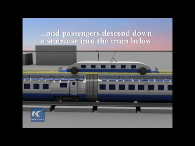 Futuristic design allows trains to run without stop