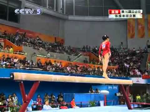 Balance Beam final 1 16th Asian Games gymnastic 2010