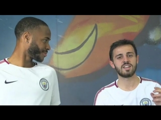 Raheem Marley and Bernardo Rhapsody! Our Portuguese and England stars sing their hearts out on the #mancity kids app!