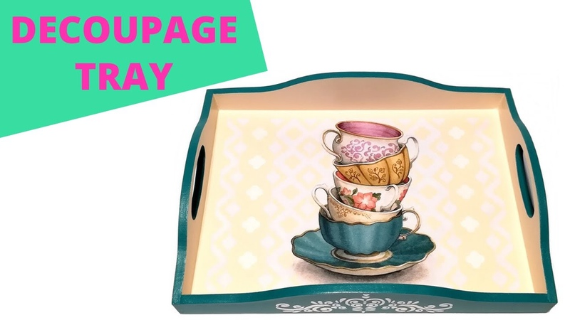 How to do decoupage with no wrinkles DIY Como hacer decoupage sin pliegues