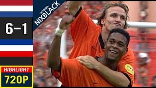 Netherlands 6-1 Yugoslavia 2000 Football Match Show Quarter Finals