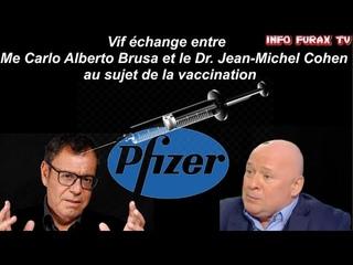 🔥🔥Vif échange🔥🔥 entre Me Carlo Alberto Brusa et le Dr. Jean-Michel Cohen au sujet de la vaccination