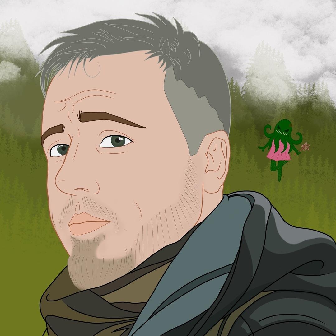 Мой портрет за авторством Виктории Миллер.