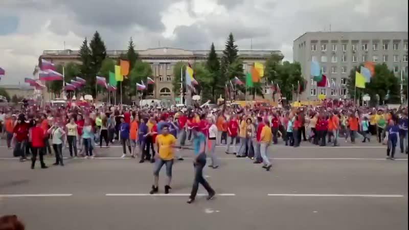 Флэшмоб по русски 2 СИБИРСКИЙ ХОРОВОД Russian style flash mob from Siberi