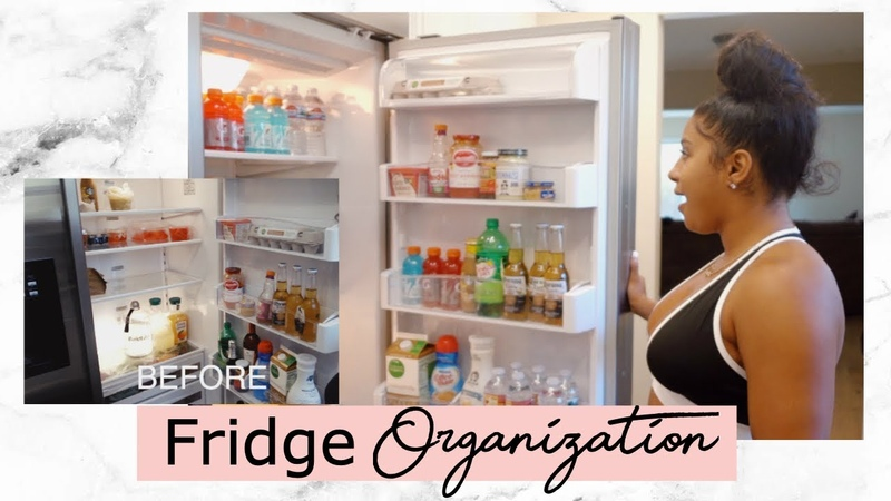 HOW TO ORGANIZE YOUR FRIDGE ft. Candice