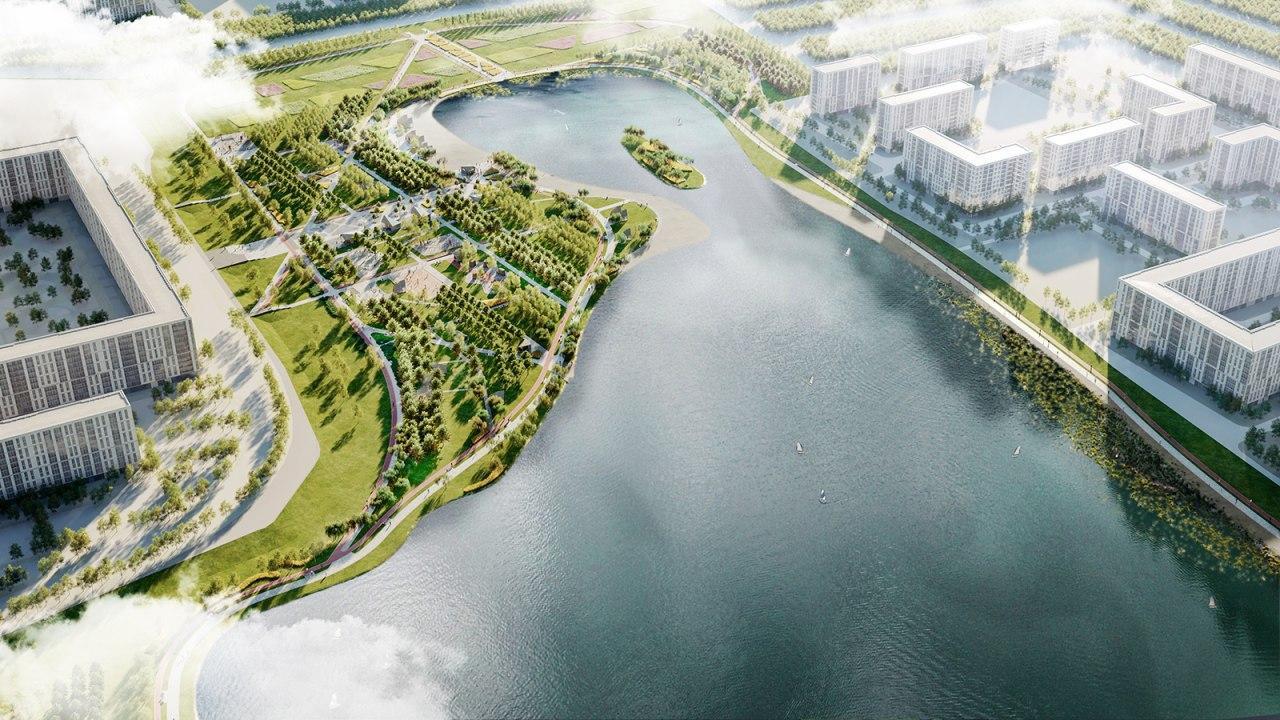 Благоустроенный парк у Черного озера станет точкой притяжения жителей Некрасовки