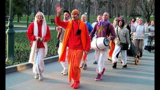 Танцы с Кришнаитами. Харе Кришна в центре Харькова