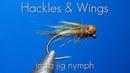 Fly Tying Insta Jig Nymph Hackles Wings
