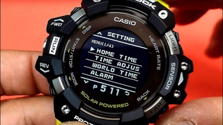 How to set Casio G-Shock smart watch manually (With subtitles)