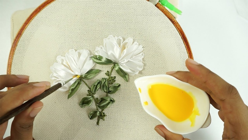 ART OF MAGICAL Ribbon Work Hand Embroidery for Beginners by DIY Stitching