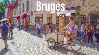 Bruges, Belgium  - Evening Walk - 2021 - 4K-HDR Walking Tour (79min)