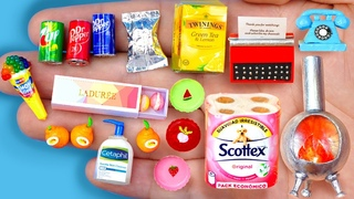 15 EASY REALISTIC DIY MINIATURE BARBIE IDEAS ~ Mini Centapin, 7ups, vintage telephone and more!