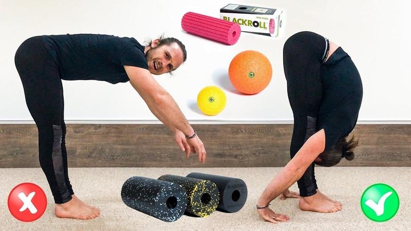 Как улучшить наклон вперёд и стать гибче 🤸 Миофасциальный релиз МФР для ног и спины ⭐ SLAVYOGA