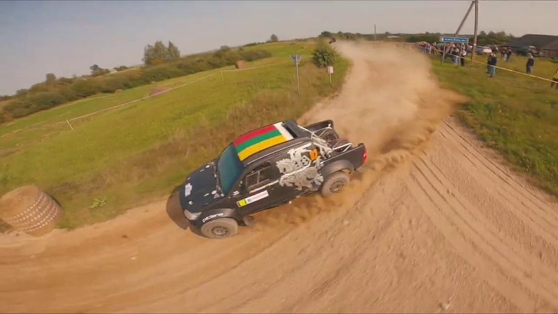 Rally Elektrenai 2020 view from drone | Benediktas Vanagas | Inbank team Pitlane