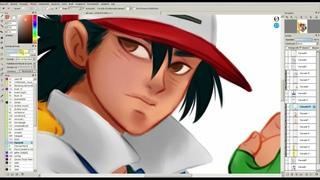 Ash Ketchum and Pikachu - Pokemón 1997 (Speed Painting)
