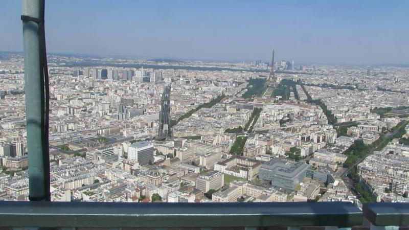 Париж Вид на город с башни Монпарнас