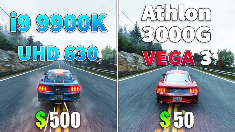 I9 9900K UHD 630 vs Athlon 3000G VEGA 3 l iGPU Test
