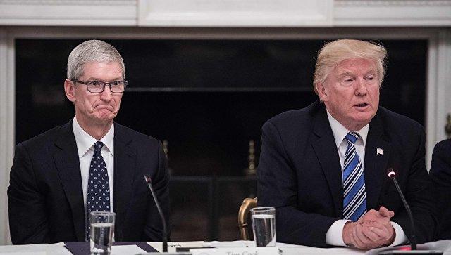 Трамп сделал заявление о главе Apple