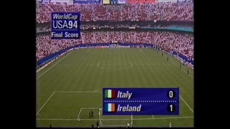 Rep of Ireland v Italy 1994 2nd Half