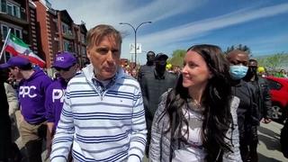 """Entrevue avec MAXIME BERNIER à la marche """"Québec Debout"""", le 1er mai 2021"""