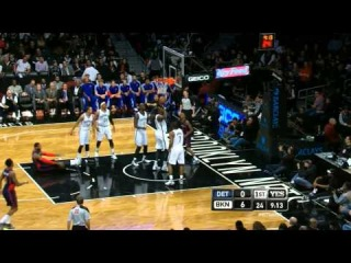 Andray Blatche scores an own basket