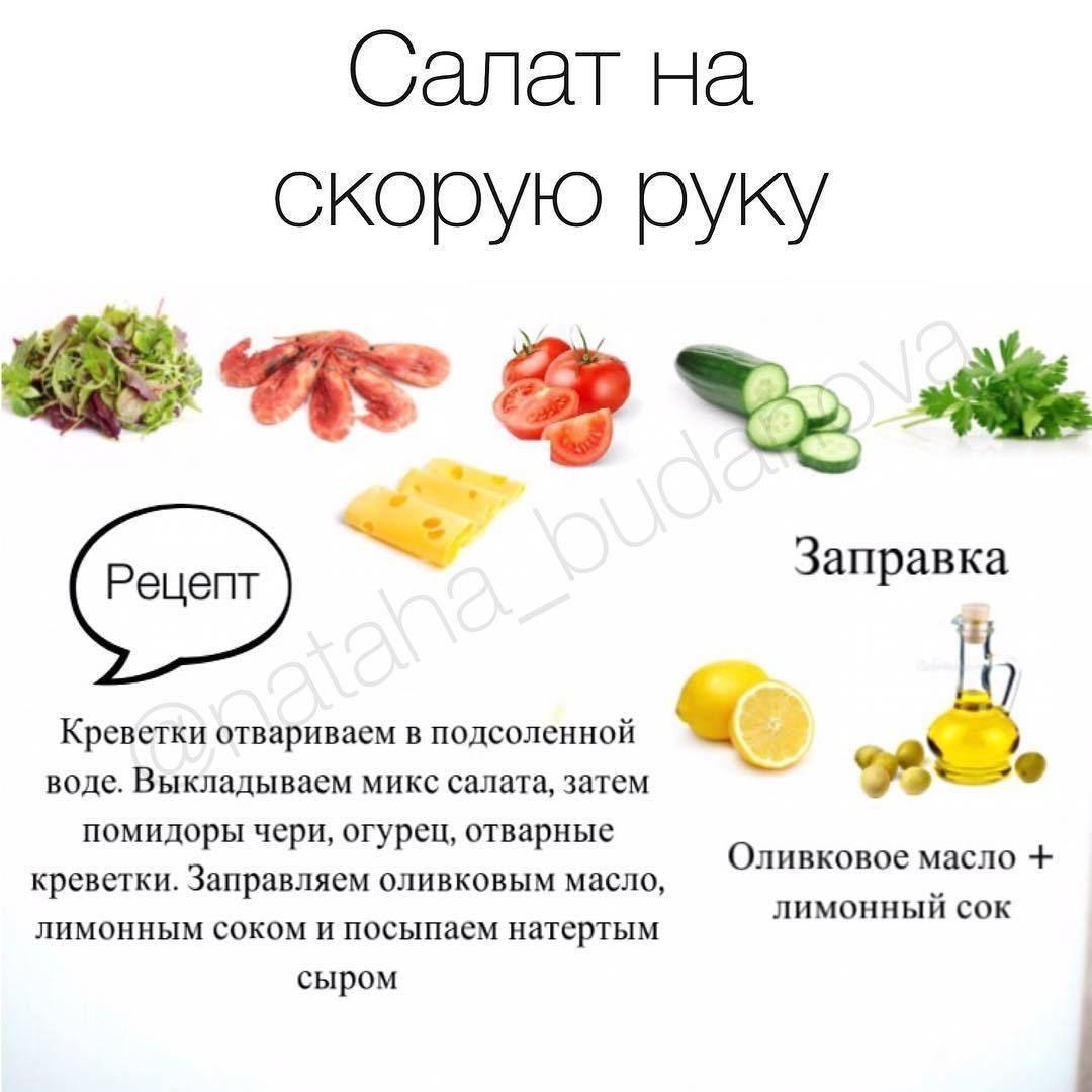 Подборка быстрых салатов