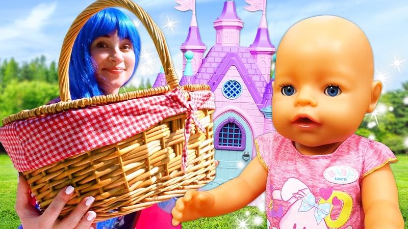 Смешные видео куклы БЕБИ БОН и Принцессы Диснея идут на Пикник Новые игры одевалки