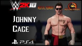 WWE 2K18 - Johnny Cage [Mortal Kombat] CAW + Knockout Match Match