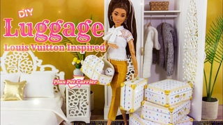 DIY - How to Make: Louis Vuitton inspired Luggage with Pet Carrier